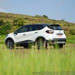 Renault Captur test drive review left rear three quarters