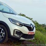 Renault Captur test drive review nose