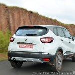 Renault Captur test drive review rear three quarters action shot