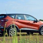 Renault Captur test drive review rear three quarters