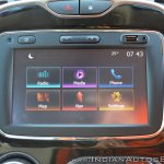 Renault Captur test drive review touchscreen