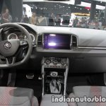 Skoda Karoq dashboard touchscreen steering wheel showcased at IAA 2017