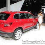 Skoda Karoq rear three quarters right showcased at IAA 2017
