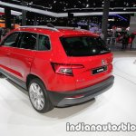 Skoda Karoq rear three quarters showcased at IAA 2017