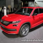 Skoda Kodiaq Sportline front three quarters at IAA 2017