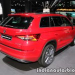 Skoda Kodiaq Sportline rear three quarters at IAA 2017