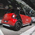 Smart forfour crosstown edition rear three quarters at IAA 2017