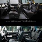 Suzuki Xbee concept vs. Suzuki Hustler interior cabin