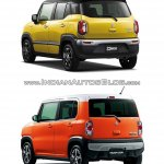 Suzuki Xbee concept vs. Suzuki Hustler rear three quarters