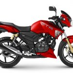 TVS Apache RTR 180 Matte Red studio shot