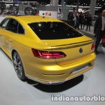 VW Arteon R-Line rear three quarters at IAA 2017