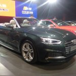 2017 Audi A5 Cabriolet front three quarters right side roof down