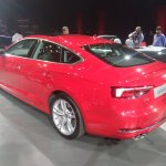 2017 Audi A5 Sportback rear three quarters left side elevated view