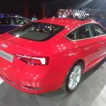 2017 Audi A5 Sportback rear three quarters right side elevated view