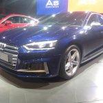2017 Audi S5 Sportback blue front three quarters left side