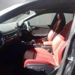 2017 Audi S5 Sportback front seats