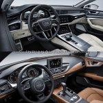 2018 Audi A7 Sportback vs. 2014 Audi A7 Sportback dashboard