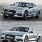2018 Audi A7 Sportback vs. 2014 Audi A7 Sportback front three quarters