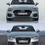 2018 Audi A7 Sportback vs. 2014 Audi A7 Sportback front