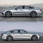 2018 Audi A7 Sportback vs. 2014 Audi A7 Sportback profile