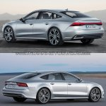 2018 Audi A7 Sportback vs. 2014 Audi A7 Sportback rear three quarters