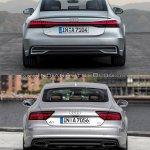2018 Audi A7 Sportback vs. 2014 Audi A7 Sportback rear