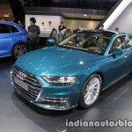 2018 Audi A8 L front three quarters at 2017 Tokyo Motor Show