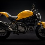 2018 Ducati Monster 821 Yellow press right side