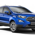 2018 Ford EcoSport facelift India-spec front three quarters