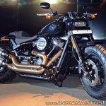 2018 Harley Davidson Fat Bob front three quarters
