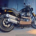 2018 Harley Davidson Fat Bob rear three quarters