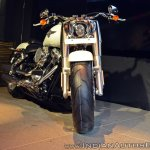 2018 Harley Davidson Fat Boy front angle view