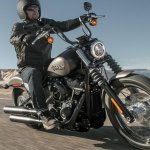 2018 Harley Davidson Street Bob press front right quarter action