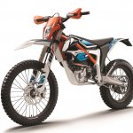 2018 KTM Freeride E-XC studio front left quarter