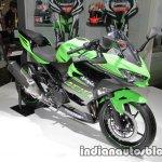 2018 Kawasaki Ninja 400 front three quarters at the Tokyo Motor Show