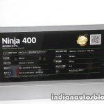 2018 Kawasaki Ninja 400 power engine specs at the Tokyo Motor Show