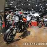 2018 Kawasaki Z900 RS front three quarters left at the Tokyo Motor Show