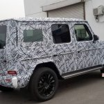 2018 Mercedes G-Class rear three quarters China spy shot