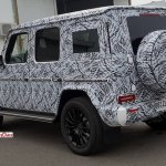 2018 Mercedes G-Class rear three quarters left side spy shot