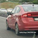 2018 Proton Preve rear three quarters spy shot