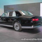 2018 Toyota Century rear three quarters at 2017 Tokyo Motor Show