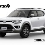 2018 Toyota Rush front three quarters rendering
