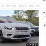 2019 Jeep Cherokee facelift spy picture