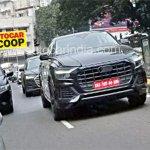 Audi Q8 front three quarters spy shot India