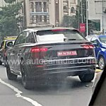 Audi Q8 rear three quarters left side spy shot India