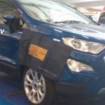 Ford EcoSport facelift spy pictures front three quarters