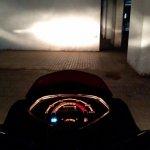 Honda Cliq Review high beam