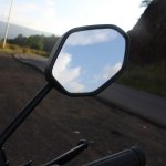 Honda Cliq Review rear view mirror