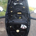 Honda Cliq Review under seat panel
