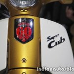 Honda Super Cub 110 Commemorative Edition badge at 2017 Tokyo Motor Show